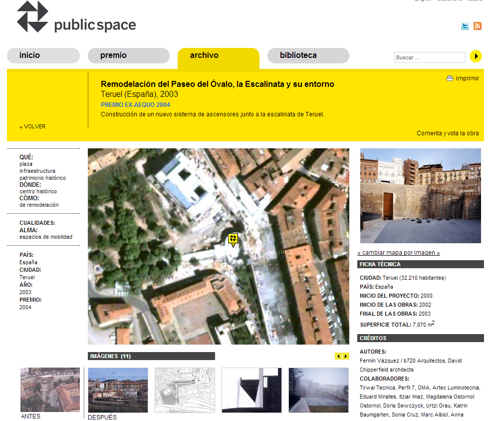 European Prize for Urban Public Space: Renovation of Paseo del Oval in Teruel