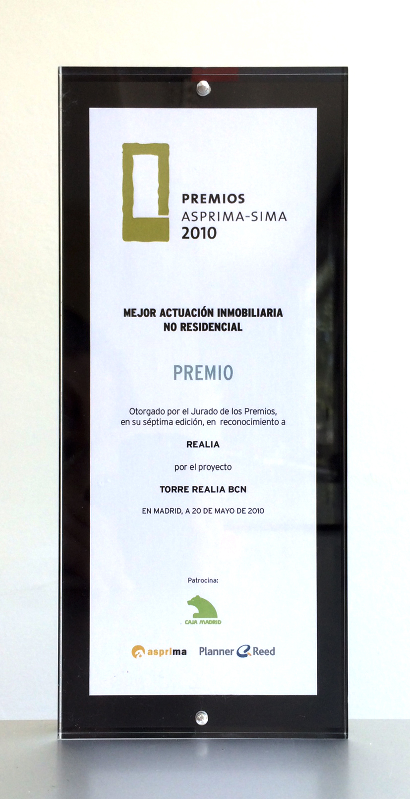 Asprima-Sima Awards 2010 – First Prize: Best Non-Residential Real Estate Performance