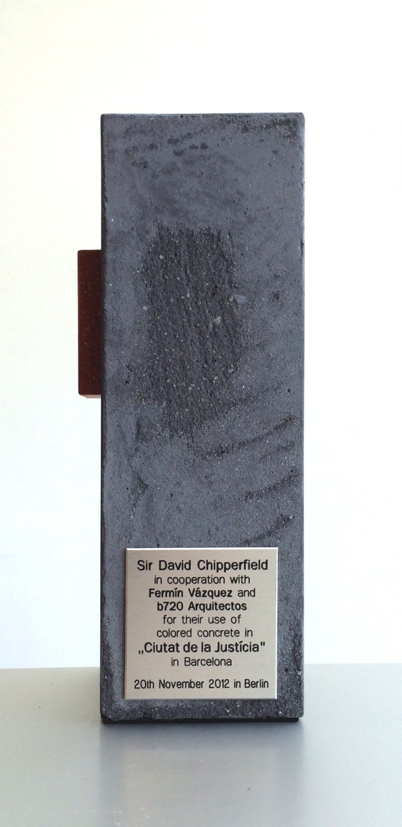 Colored Concrete Works Awards 2012 – First Prize